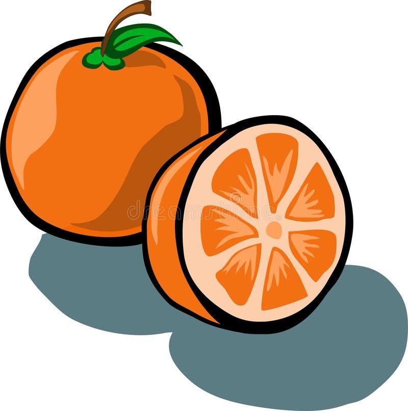 Arancio e fetta royalty illustrazione gratis
