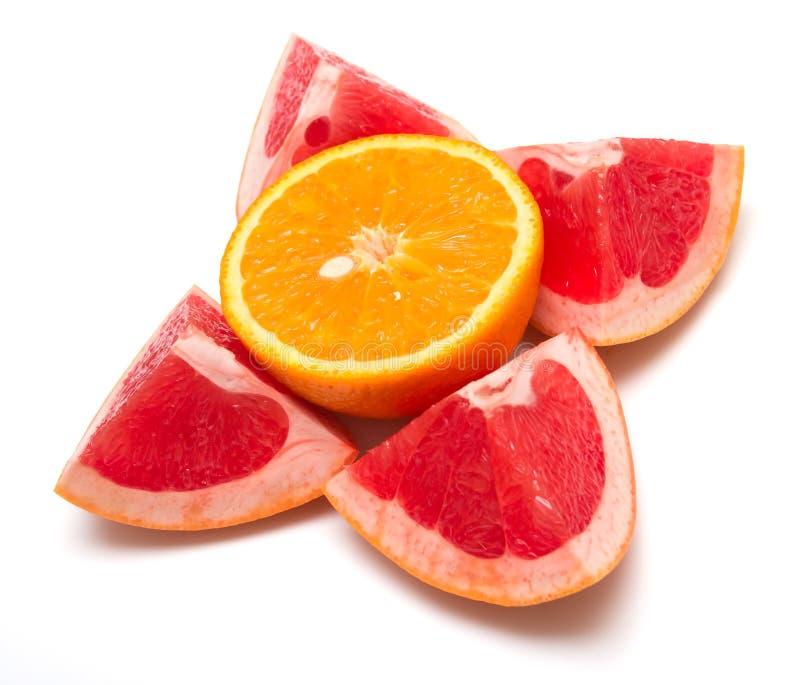 Arancio e pompelmo 2 immagine stock libera da diritti