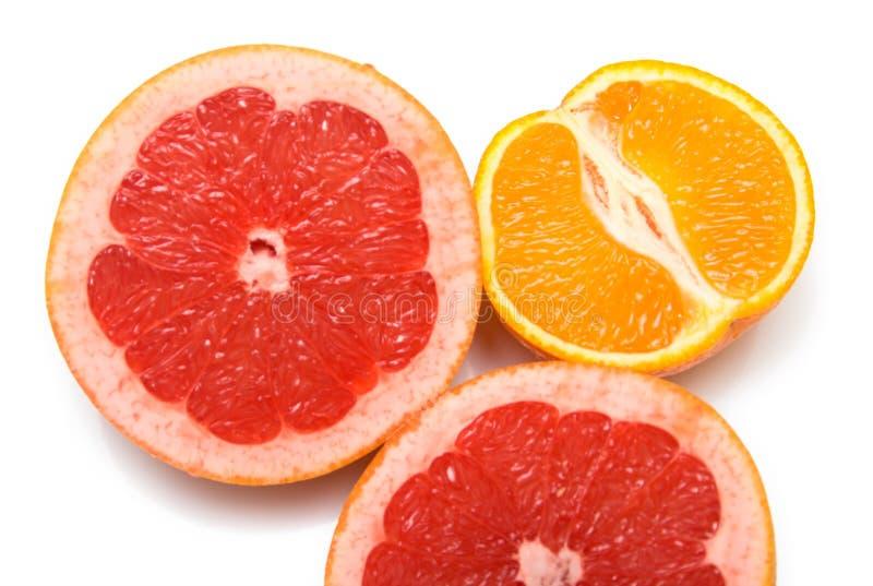 Arancio e pompelmo fotografie stock