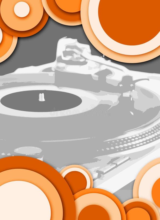 Arancio grigio della piattaforma girevole del cerchio illustrazione vettoriale