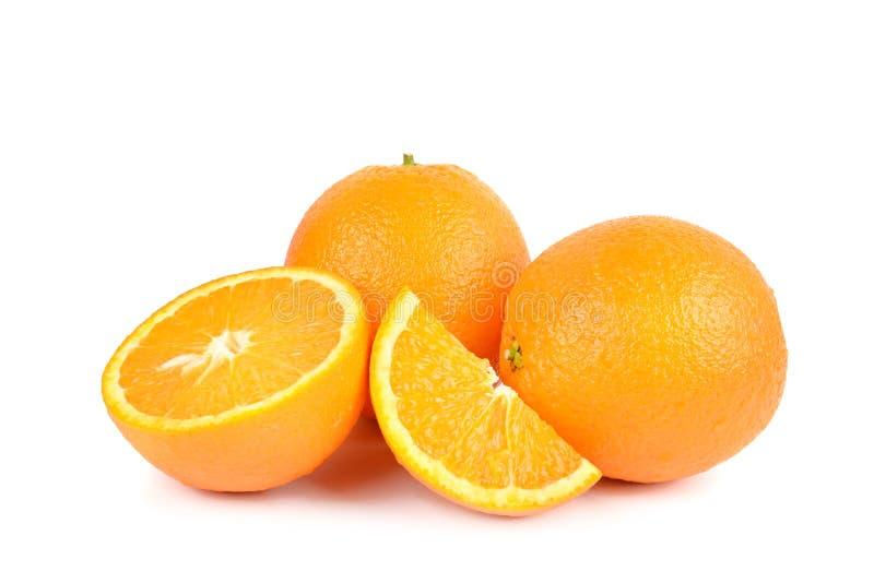 Arancio isolato su priorità bassa bianca Alimento sano fotografie stock libere da diritti