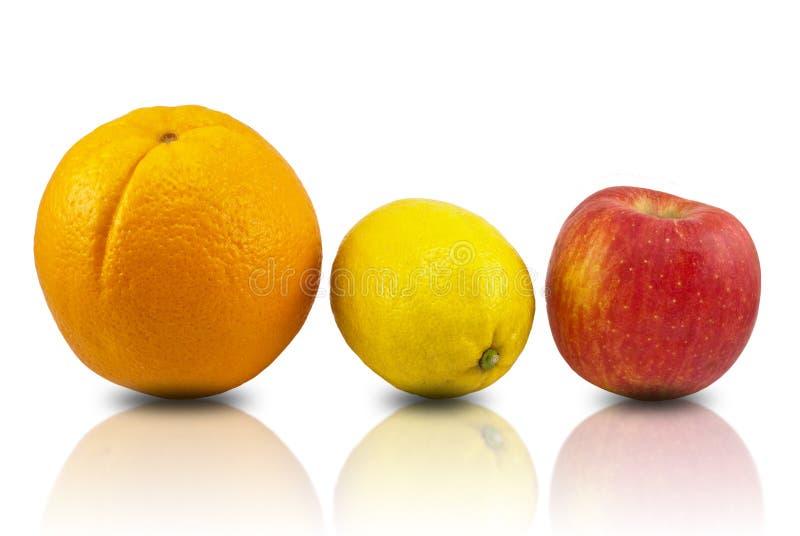 Arancio, limone, mela immagini stock libere da diritti