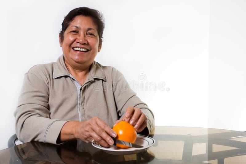 Arancio per la prima colazione fotografia stock libera da diritti