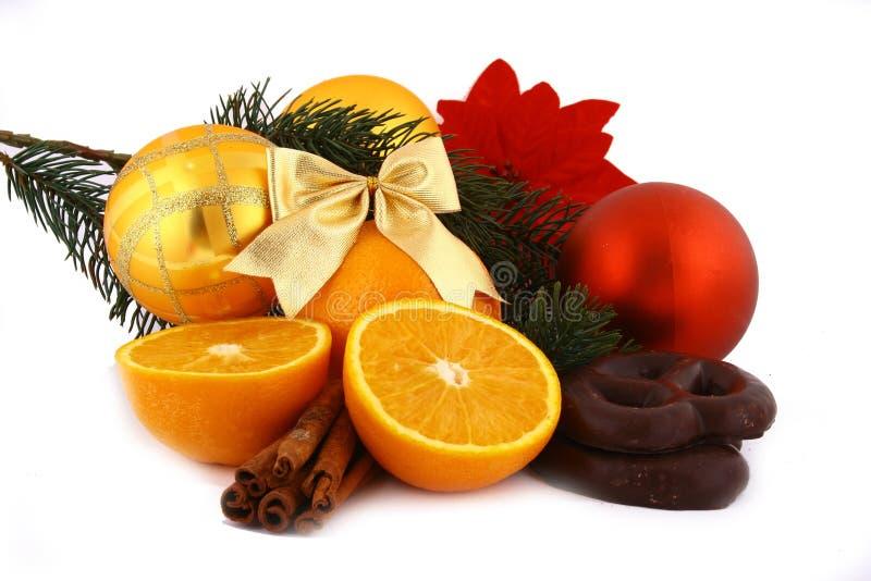 arancio su una priorità bassa bianca fotografia stock libera da diritti