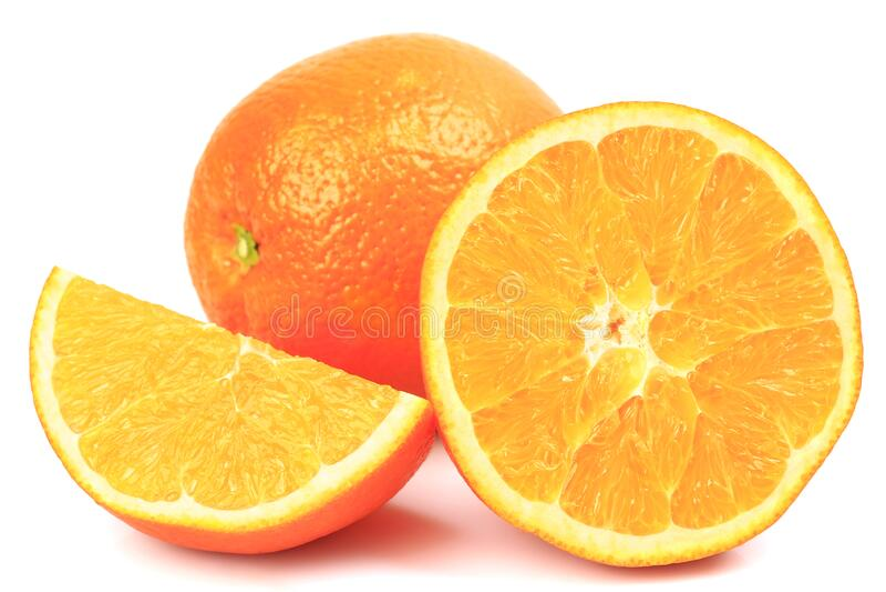 Arancione e fette fresche immagini stock
