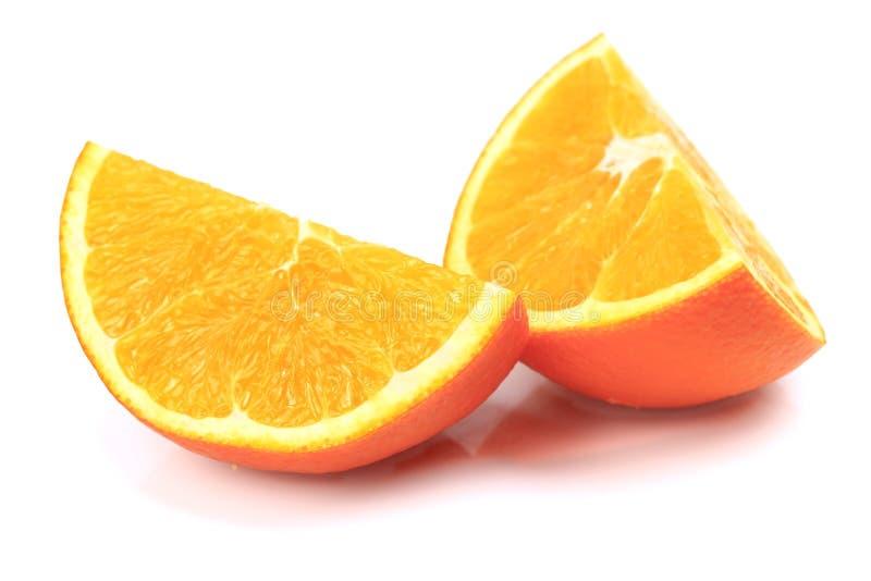 Arancione e fette fresche immagini stock libere da diritti