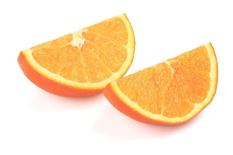 Arancione e fette fresche immagine stock libera da diritti