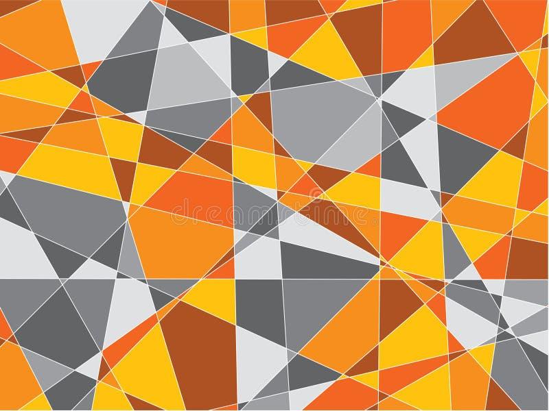 Arancione e gray spezzetta la priorità bassa illustrazione di stock