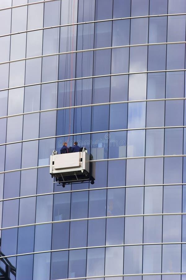 Arandelas de ventanas del rascacielos imagen de archivo libre de regalías