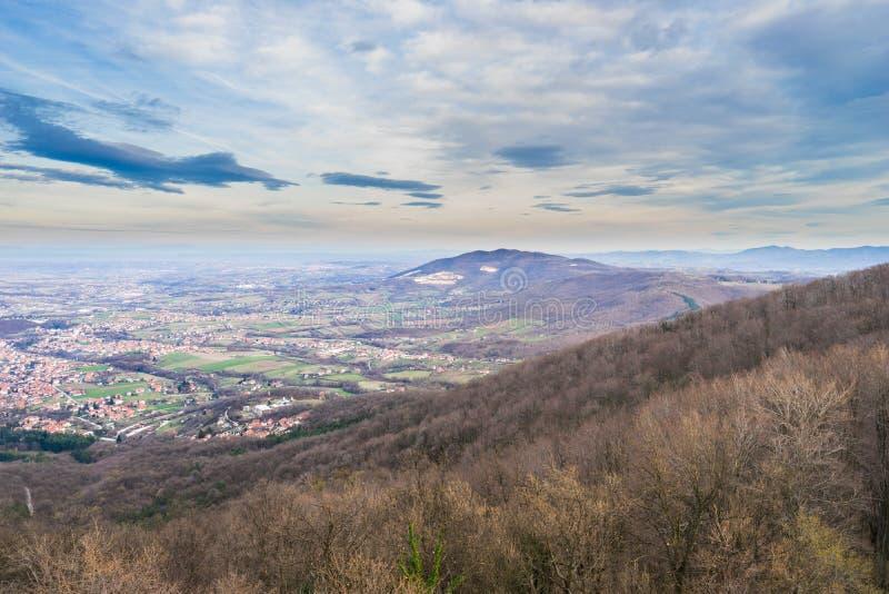 Arandjelovac Town. View of Arandjelovac town in winter from mountain Bukulja, Serbia stock photo