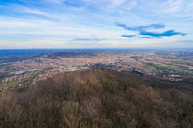 Arandjelovac Town. View of Arandjelovac town in winter from mountain Bukulja, Serbia stock photography