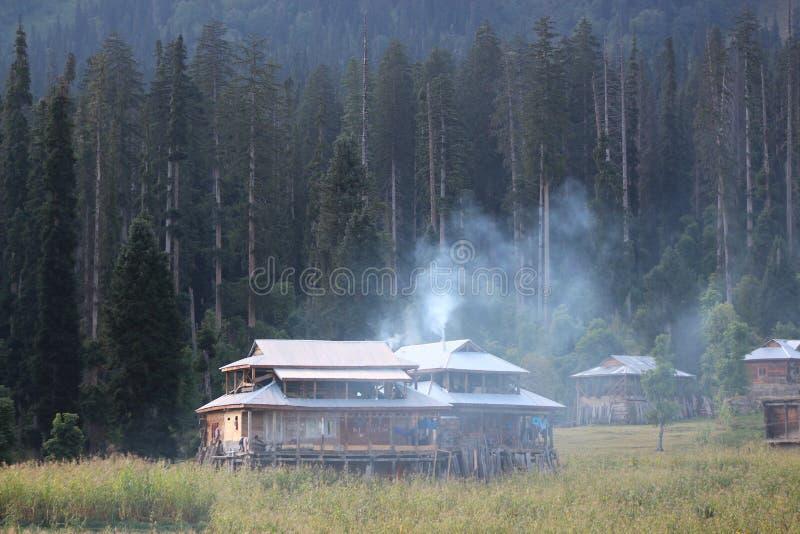 Arang Kel, Neelum Valley, Azad Kashmir royaltyfri fotografi