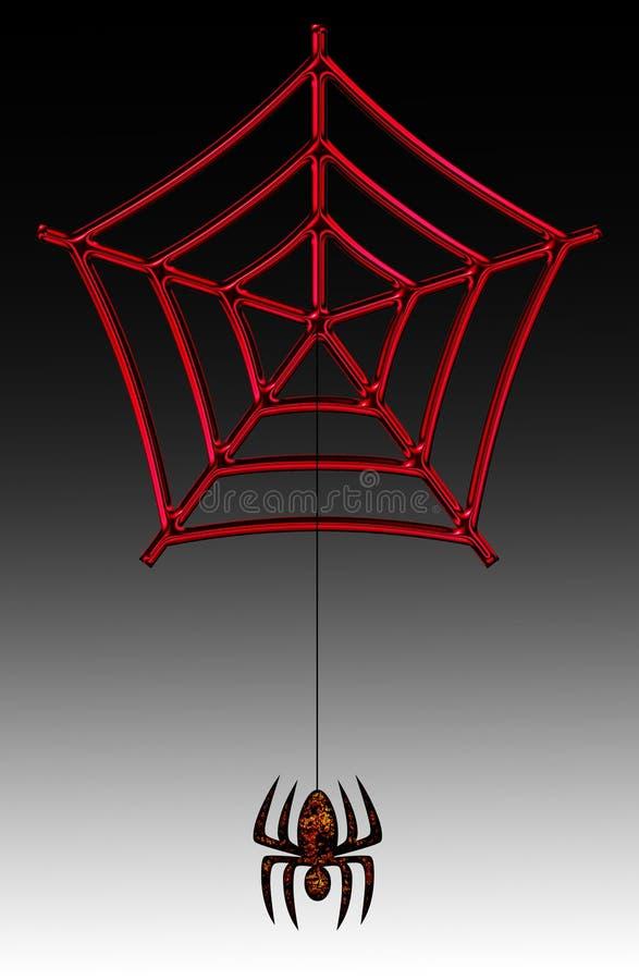 Aranha & Web ilustração do vetor