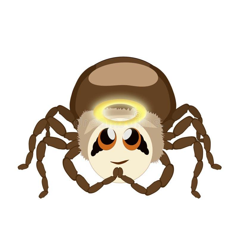 Aranha da etiqueta isolada – anjo ilustração royalty free