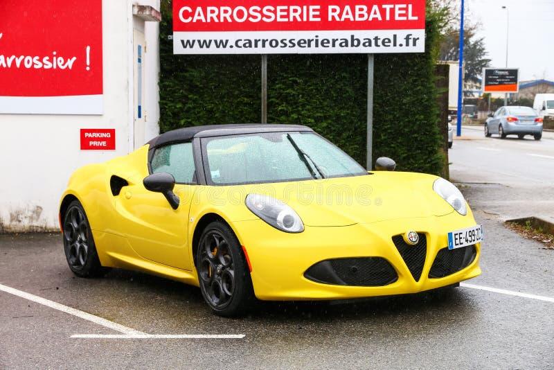 Aranha de Alfa Romeo 4C imagens de stock