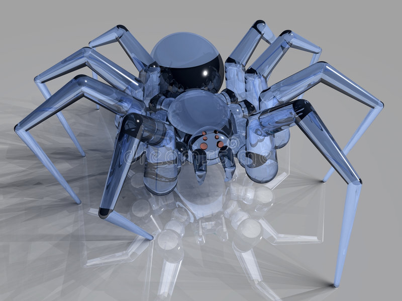 Aranha de vidro ilustração stock