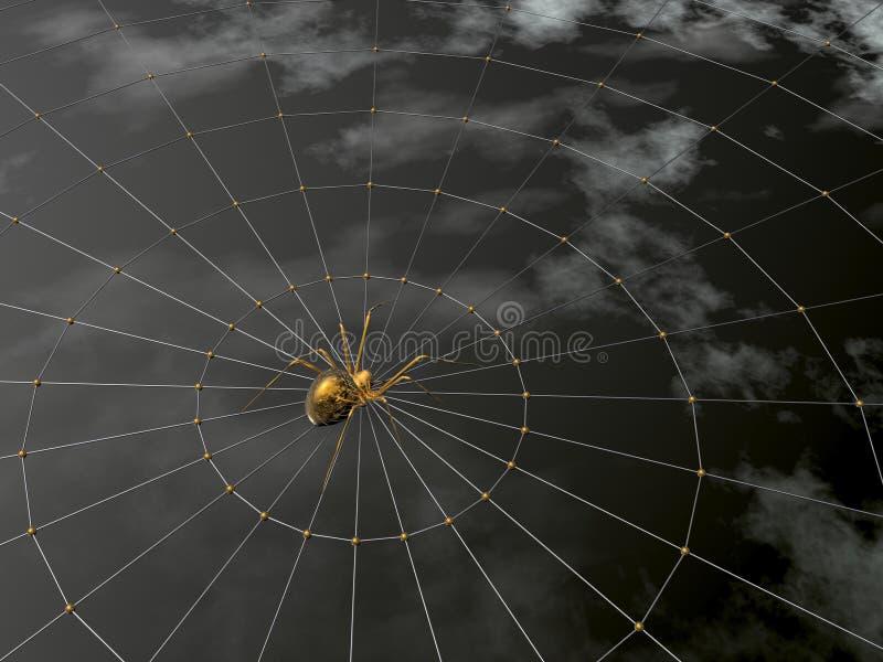 Aranha e Web ilustração royalty free
