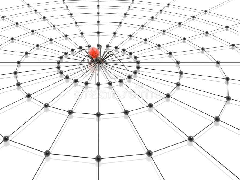 Aranha e Web ilustração do vetor