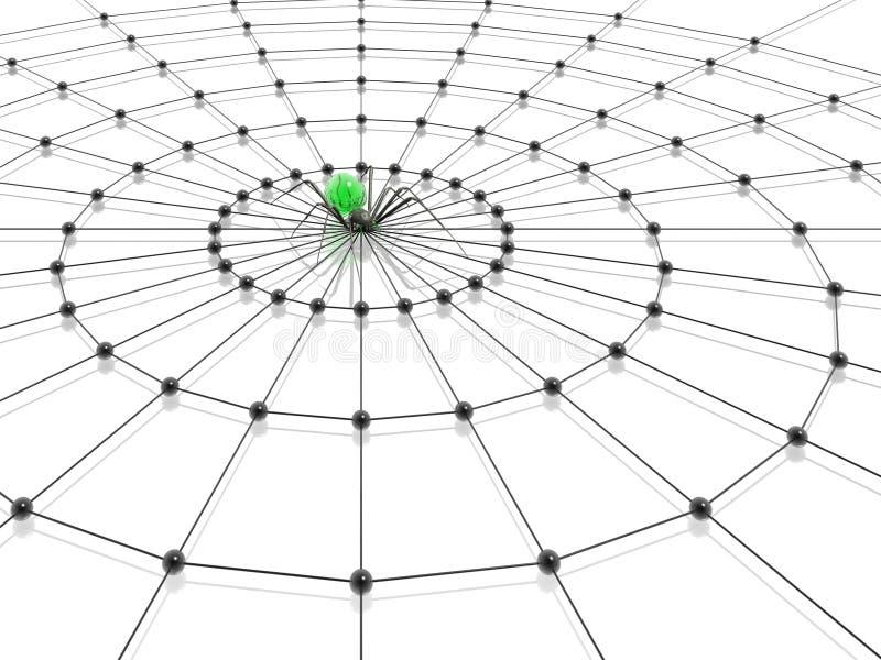 Aranha e Web ilustração stock