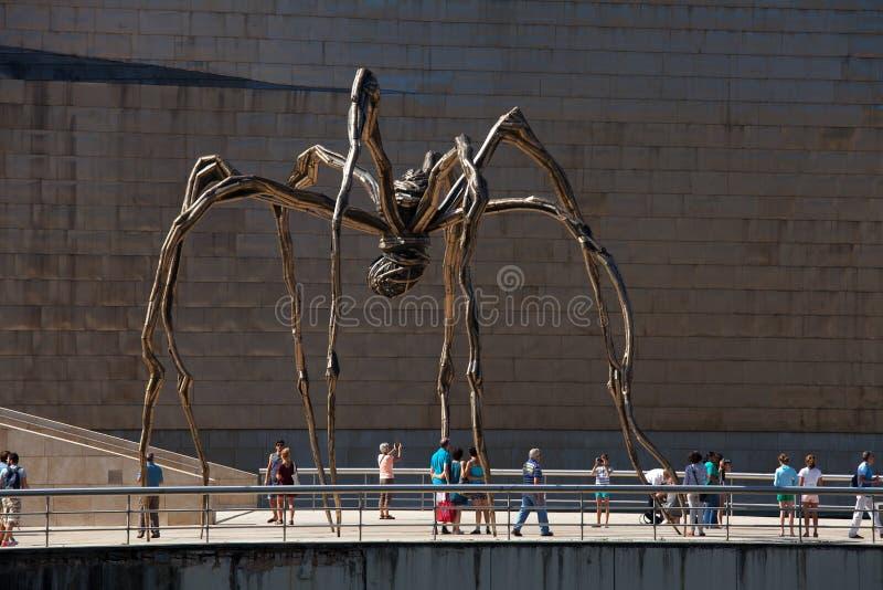 Aranha gigante, Guggenheim, Bilbao imagens de stock