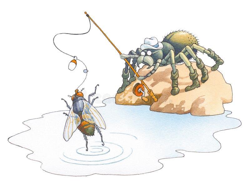 Aranha o fisher ilustração stock