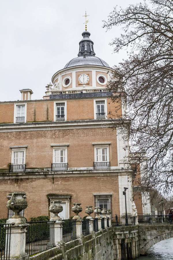 Aranjuez, world heritage, gardens of the island next to the royal palace royalty free stock images