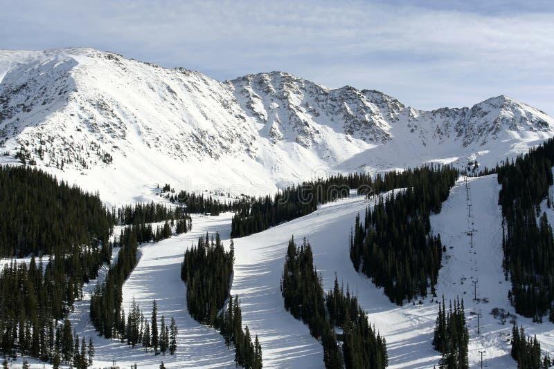 arapahoe σκι θερέτρου λεκανών στοκ εικόνα με δικαίωμα ελεύθερης χρήσης