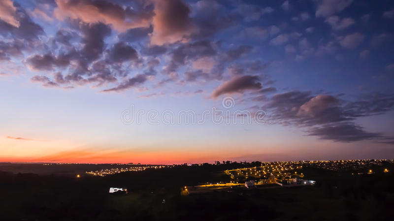 Arapongas Final de Tarde imagem de stock royalty free