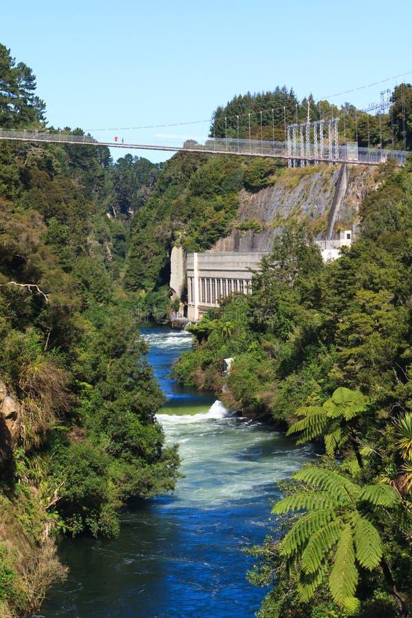 Arapuni-Kraftwerk auf Waikato-Fluss, Neuseeland lizenzfreie stockfotos