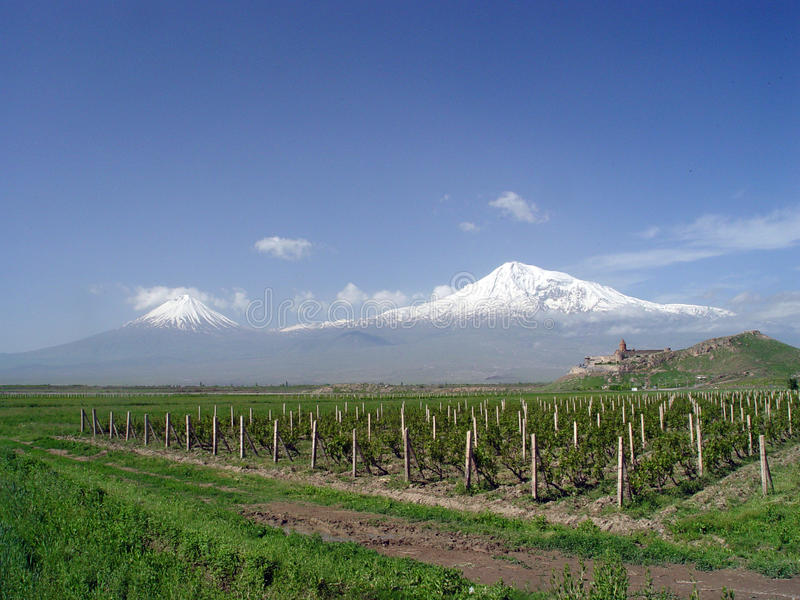Ararat Mountain, Armenia stock photo