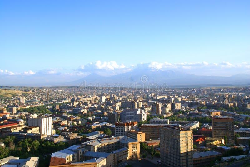 Ararat y Yerevan foto de archivo libre de regalías