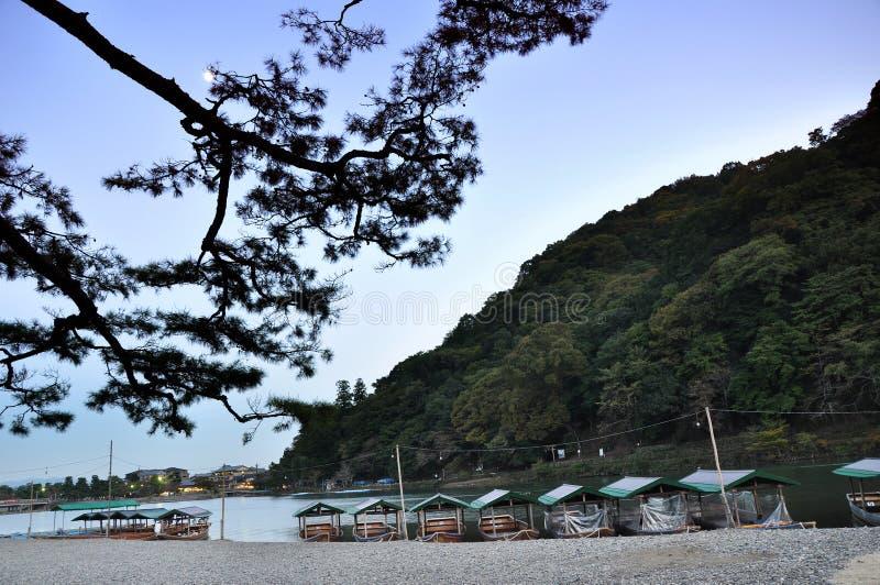 Arashiyama, μια τουριστική περιοχή στο βορειοδυτικό μέρος του Κιότο, Jap στοκ εικόνα
