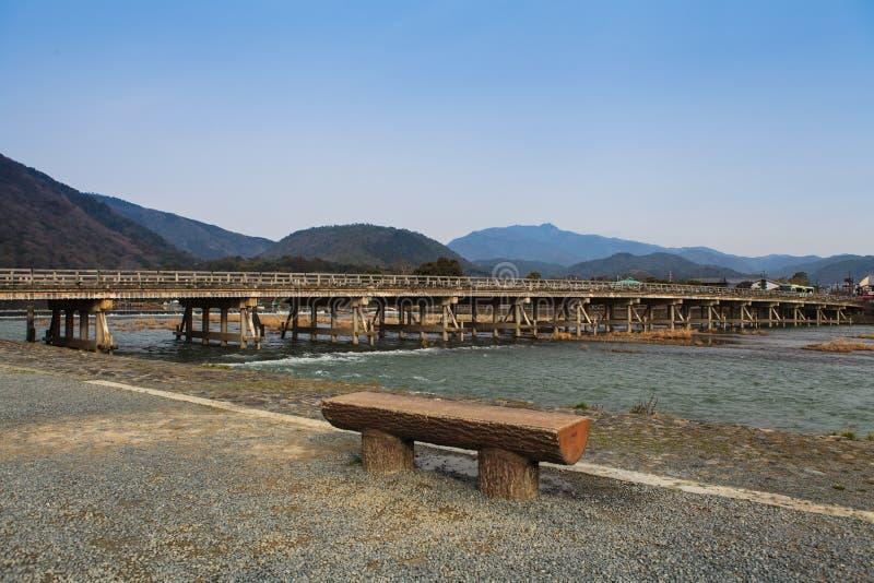 Arashiyama, Kyoto, Japan. Arashiyama famous bridge, Kyoto, Japan royalty free stock images