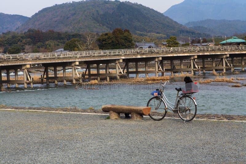Arashiyama, Kyoto, Japan. Arashiyama famous bridge, Kyoto, Japan stock photos