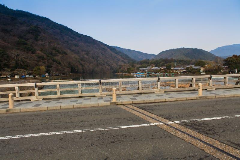 Arashiyama, Kyoto, Japan. Arashiyama famous bridge, Kyoto, Japan royalty free stock photography