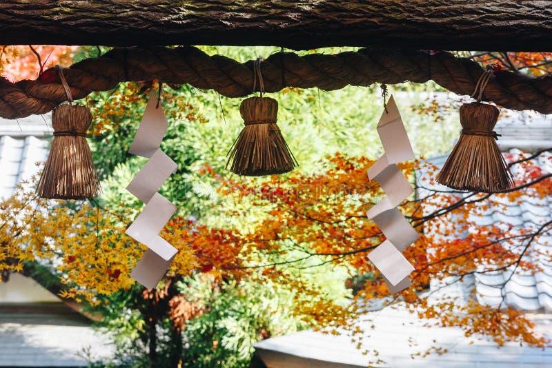 Arashiyama jest jesień sezonu późnym listopadem i kolorowym liściem taki obrazy stock