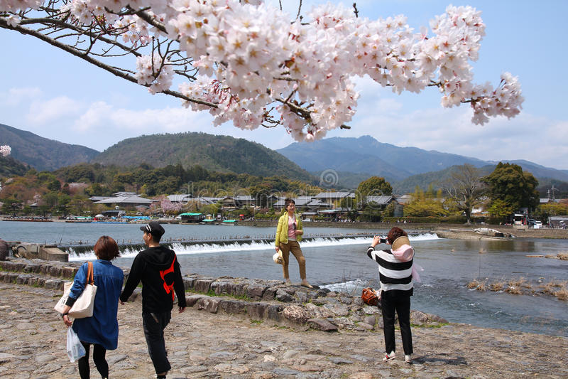 Arashiyama, Kyoto fotografia de stock