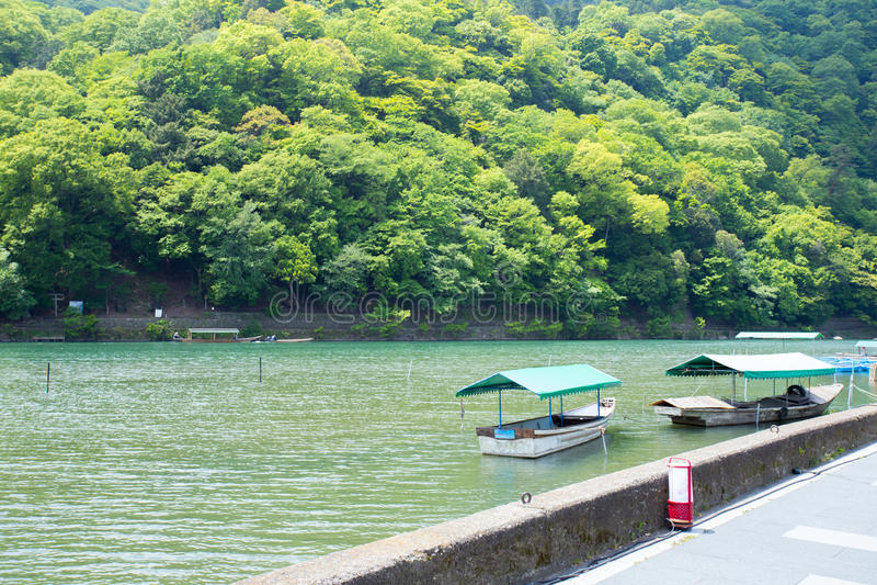 Arashiyama pier royalty free stock photos