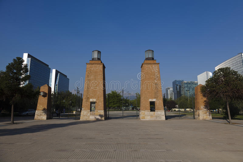araucano chile condes de las parque santiago arkivbild