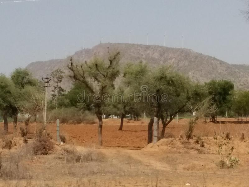 Aravali område royaltyfri foto