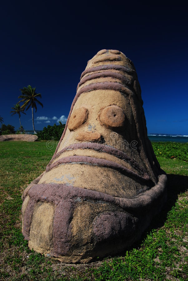 arawakguadeloupe totem royaltyfri fotografi