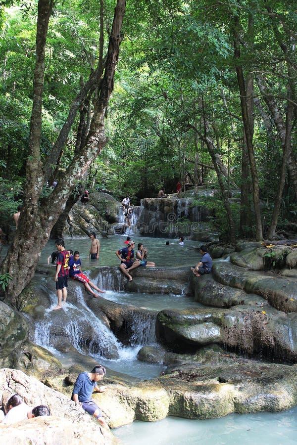 Arawan瀑布 库存照片