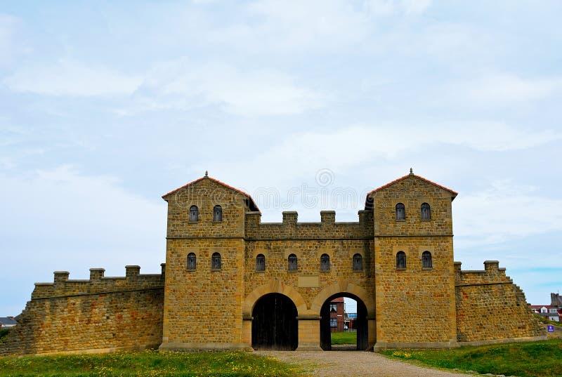 Arbeia罗马堡垒,南希尔兹,英国 库存图片