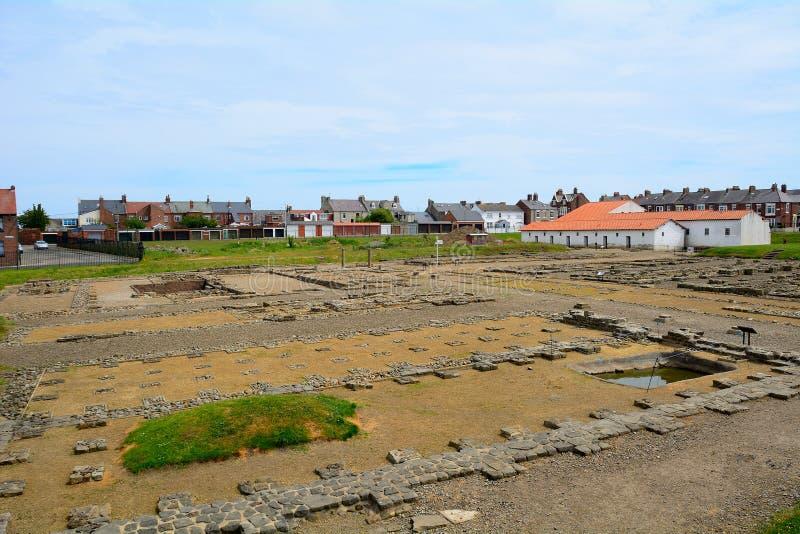 Arbeia romerskt fort, södra sköldar, England royaltyfri bild