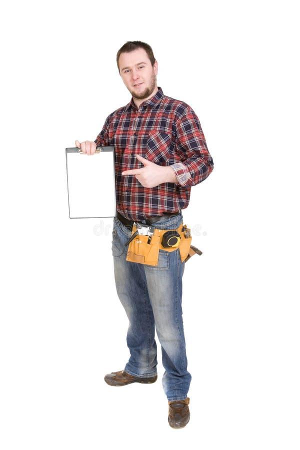 Arbeider stock afbeelding