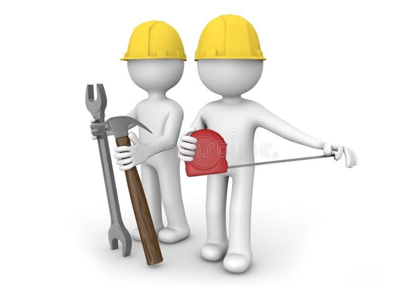 Arbeiders vector illustratie
