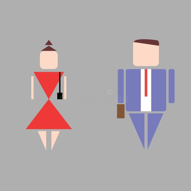 Arbeiderspictogrammen royalty-vrije stock afbeelding