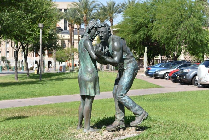 Arbeidersstandbeeld in Arizona royalty-vrije stock fotografie