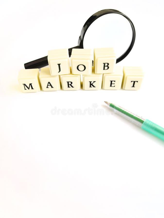 Arbeidsmarkt royalty-vrije stock afbeelding