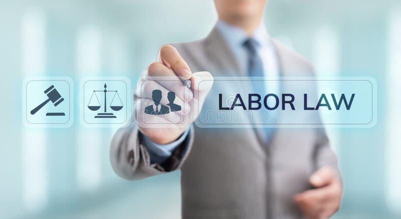 Arbeidsrecht, Advocaat, Advocaat, Juridisch advies bedrijfsconcept op het scherm stock foto's
